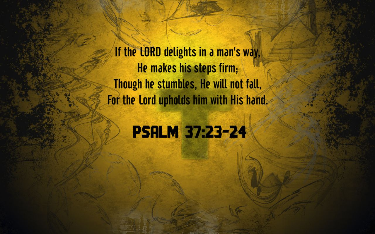 Psalm 3723 24   Firm Steps Wallpaper   Christian Wallpapers and 1280x800