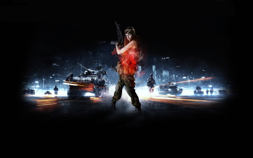 Battlefield Girl Wallpaper by Alex0998 1024x640