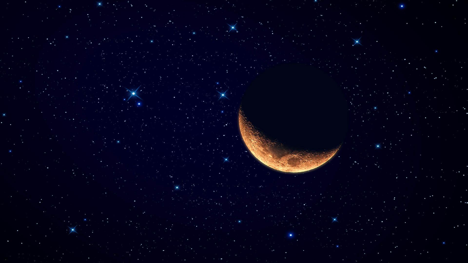 Full moon and stars wallpaper wallpapersafari