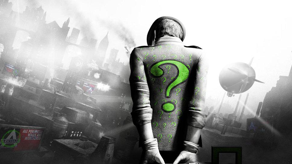 city riddler riddler zagadochnik green question mark wallpaper 969x545