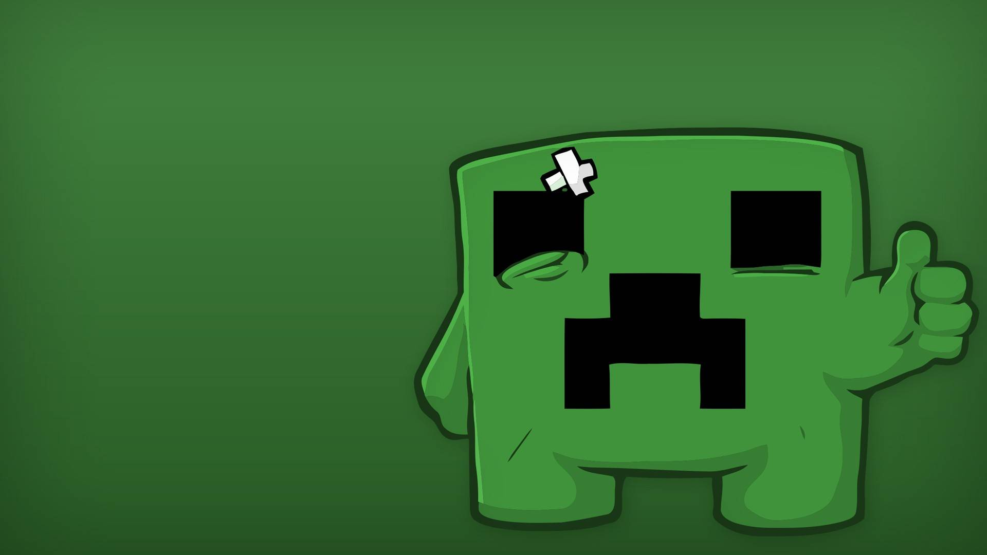 Cute Creeper   Minecraft Wallpaper 1920x1080