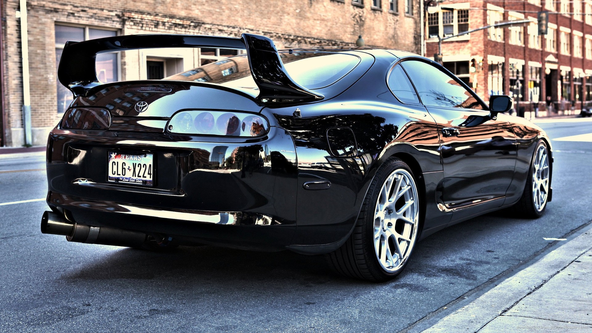 Black Tuned Toyota Supra Wallpaper For iPhone 4 1920x1080