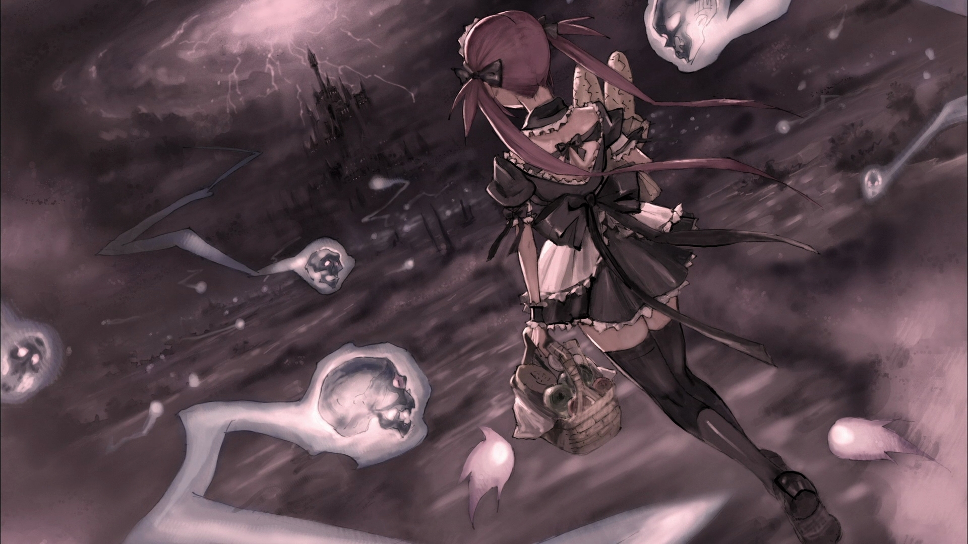 airi queens blade anime hair ribbons maid costumes ani Best Wallpapers 1920x1080