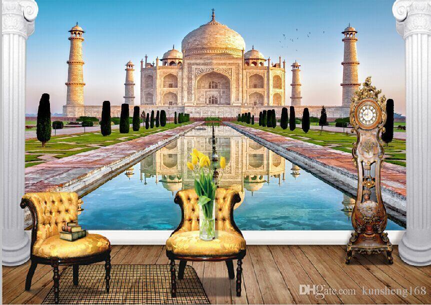 Scenic Taj Large Mural Wallpaper 3dl Dimensional Backdrop Wallpaper 862x611