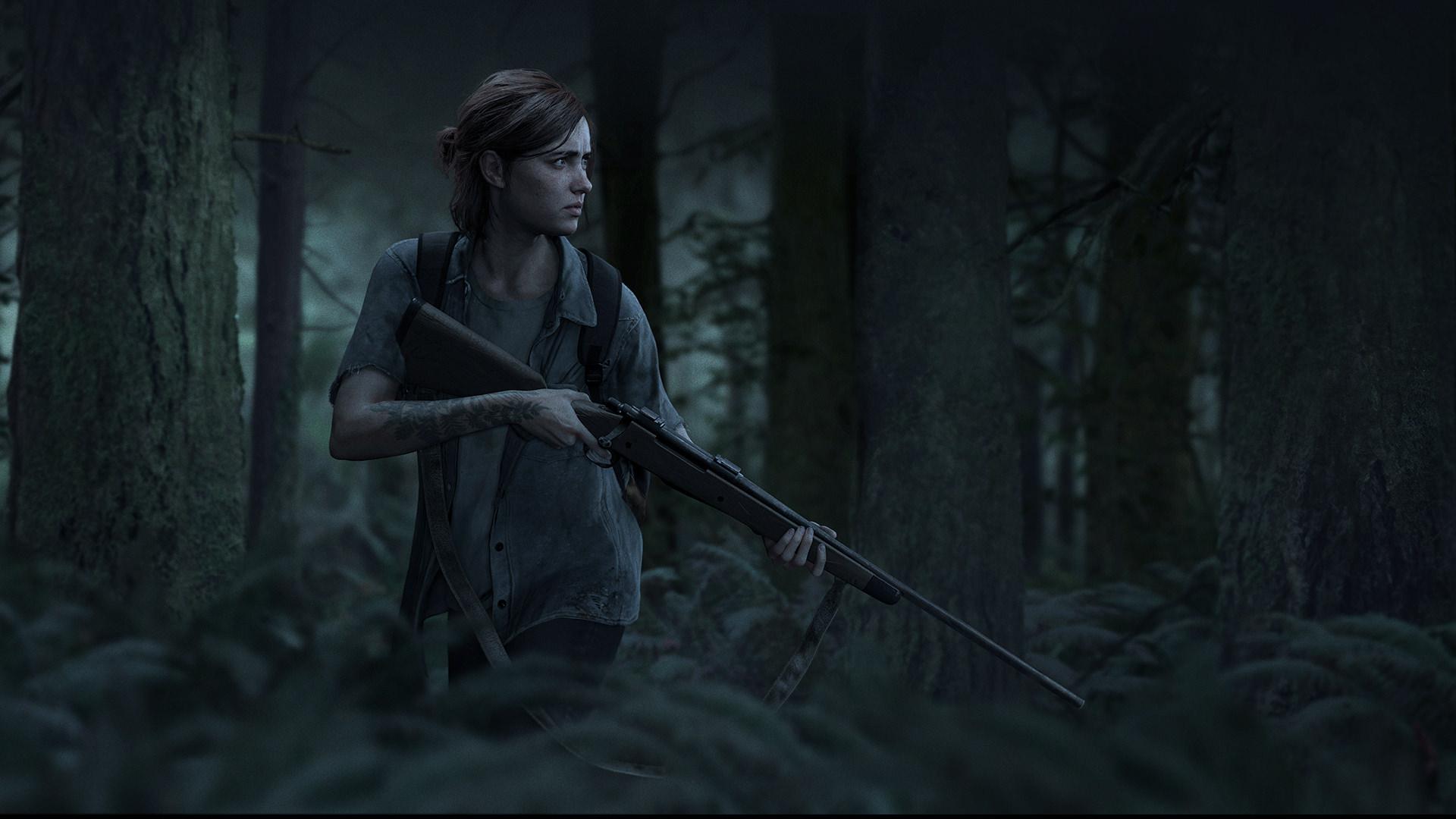 download The Last of Us Part 2 Ellie Wallpaper Dark Tint 1920x1080
