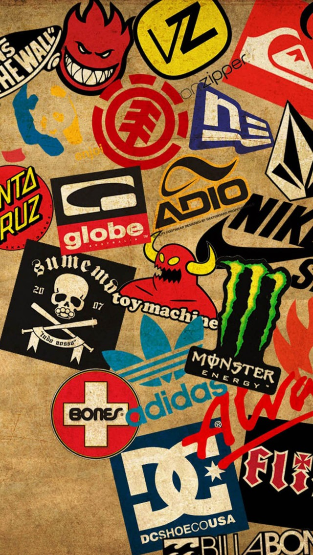Skateboard Logos   The iPhone Wallpapers 640x1136