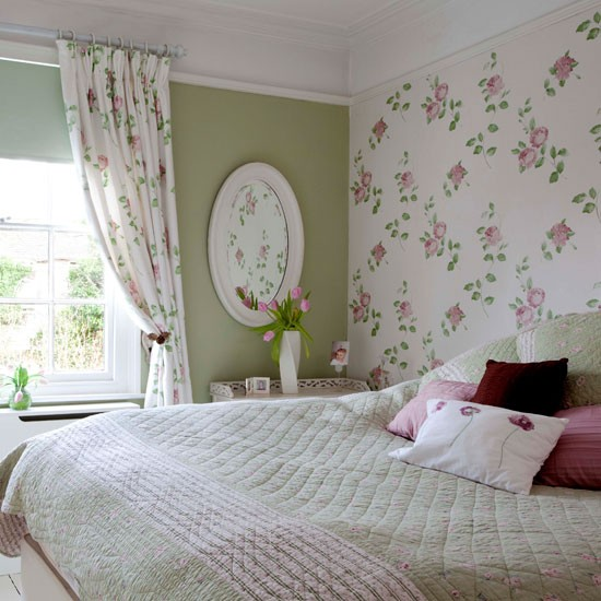 Bedspreads with Matching Wallpaper - WallpaperSafari