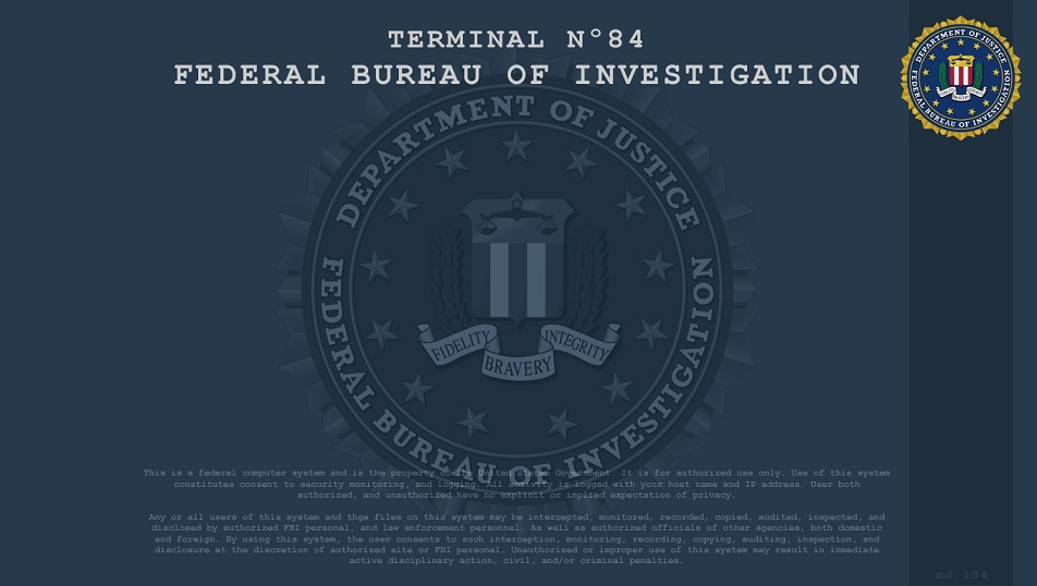 fbi login screen wallpaper pictures to pin on pinterest