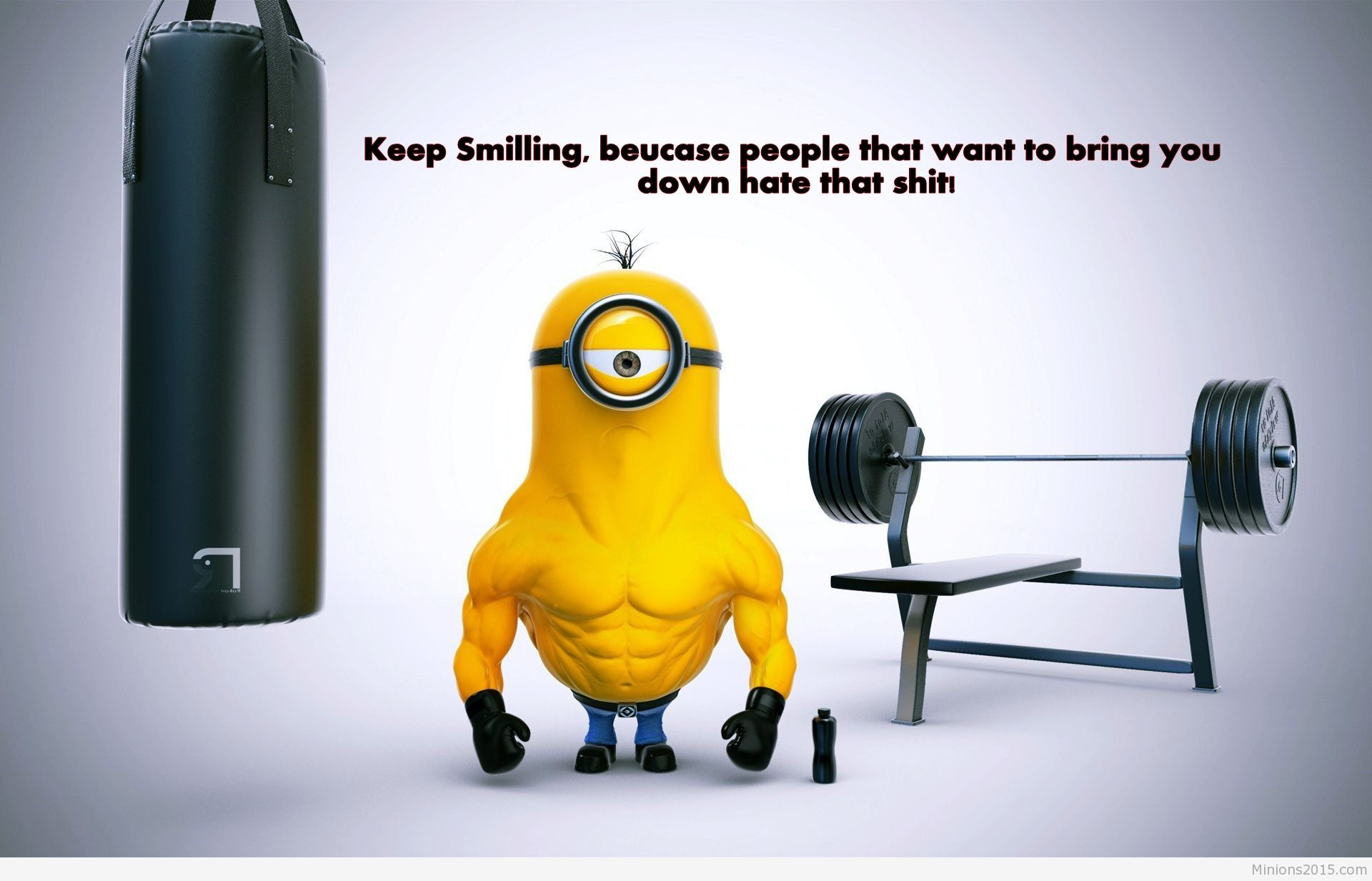 minion strong minion 2015 strong minion funny strong minion wallpaper 1920x1233