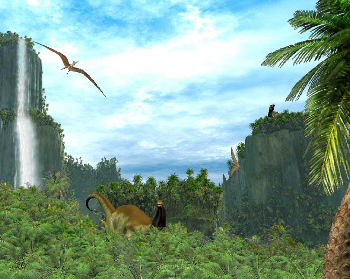 Prehistoric Valley Animated Wallpaper Download 1199x955