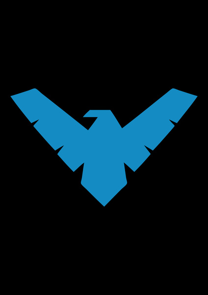 Nightwing Iphone Wallpaper Nightwing Logo Batman Iphone Wallpaper 424x600