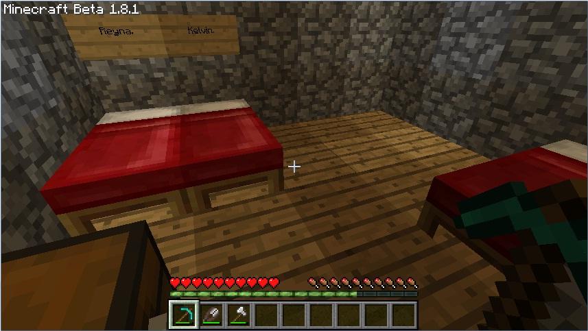 Minecraft Bedroom Wallpaper Minecraft House Bedroom by 857x483