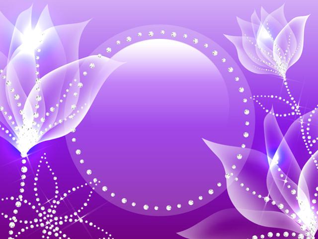 Crystal Flowers Purple 640x480 wallpaper640X480 wallpaper screensaver 640x480