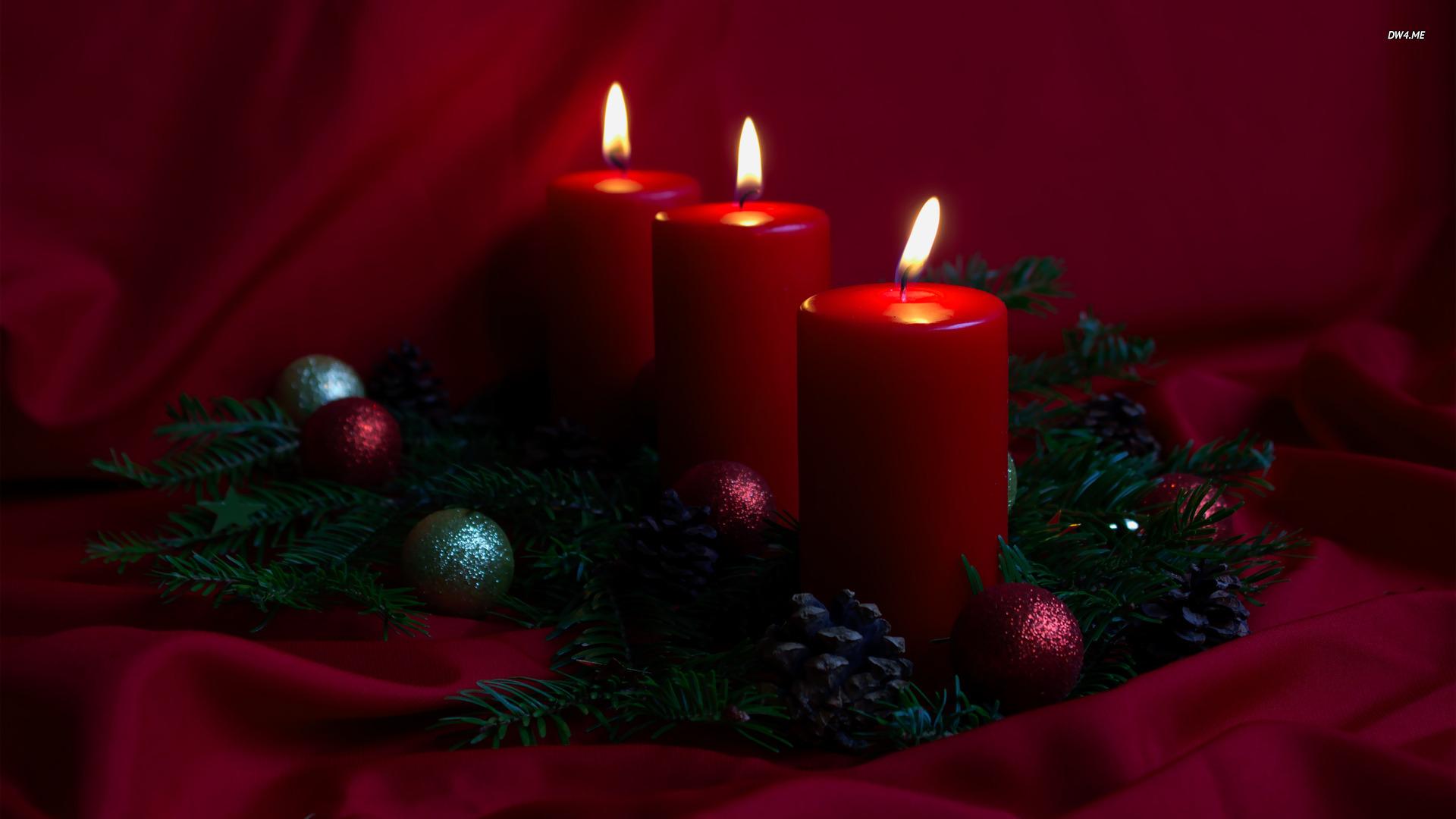 Christmas candles wallpaper 1920x1080