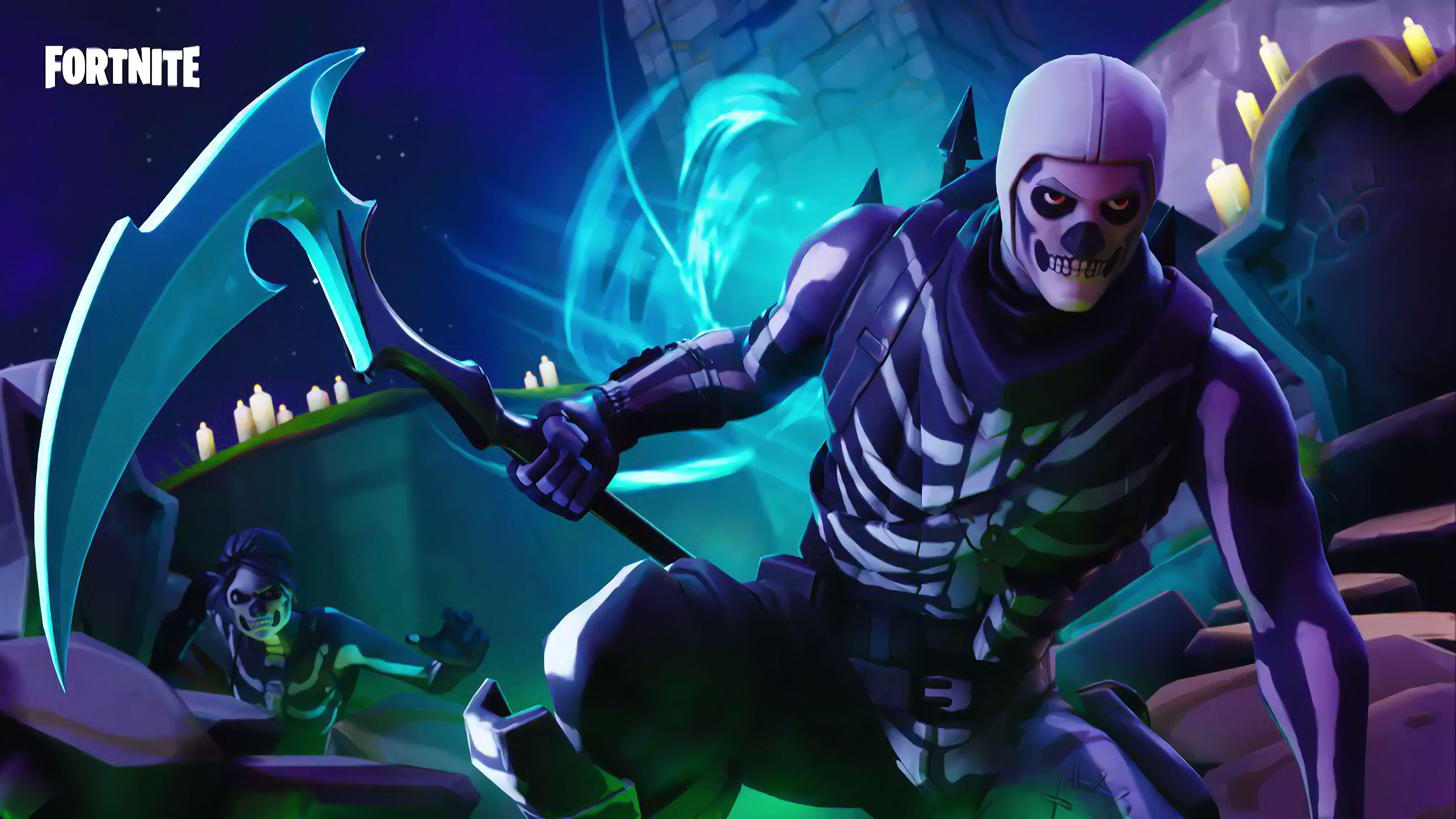 Skull Trooper and Skull Ranger Fortnite Battle Royale 4K 25281 3840x2160