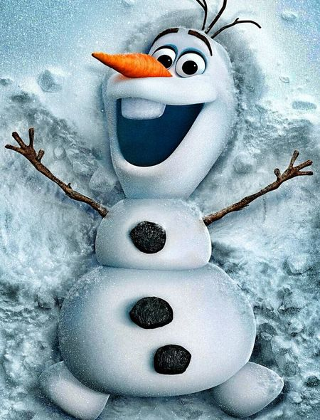 Olaf from Frozen Wallpaper for iPhone 5 450x590