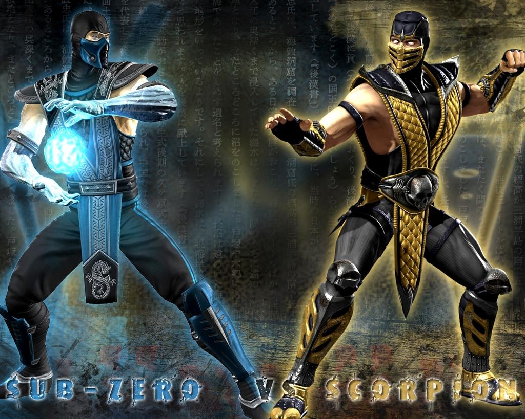 Mortal Kombat A histria de Sub Zero e Scorpion Srie In Box 1024x819