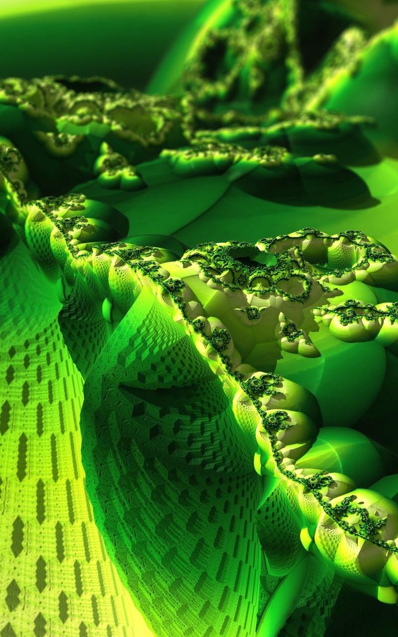 Green Fractal Wallpaper - WallpaperSafari