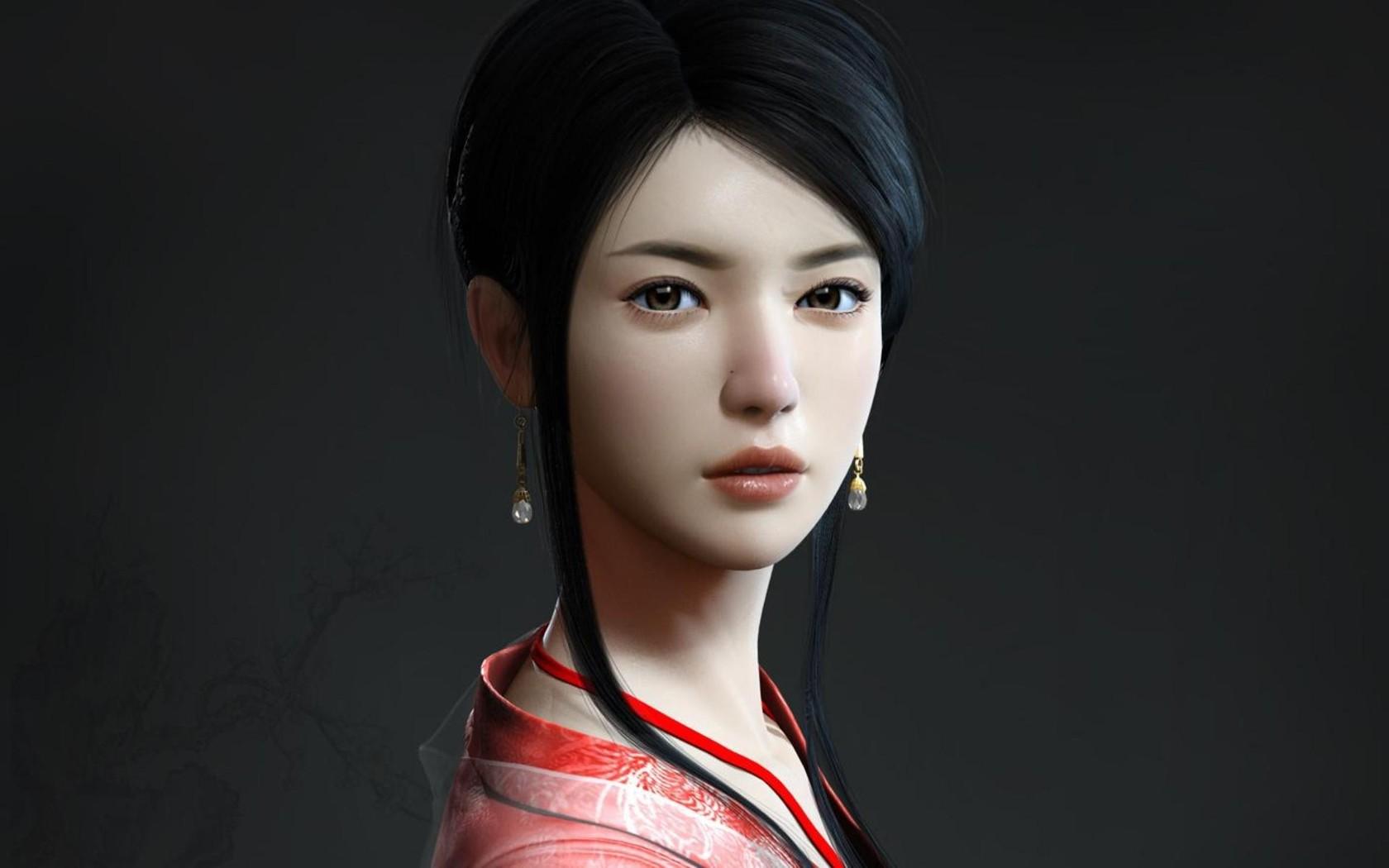 Download Beautiful geisha wallpaper 1680x1050
