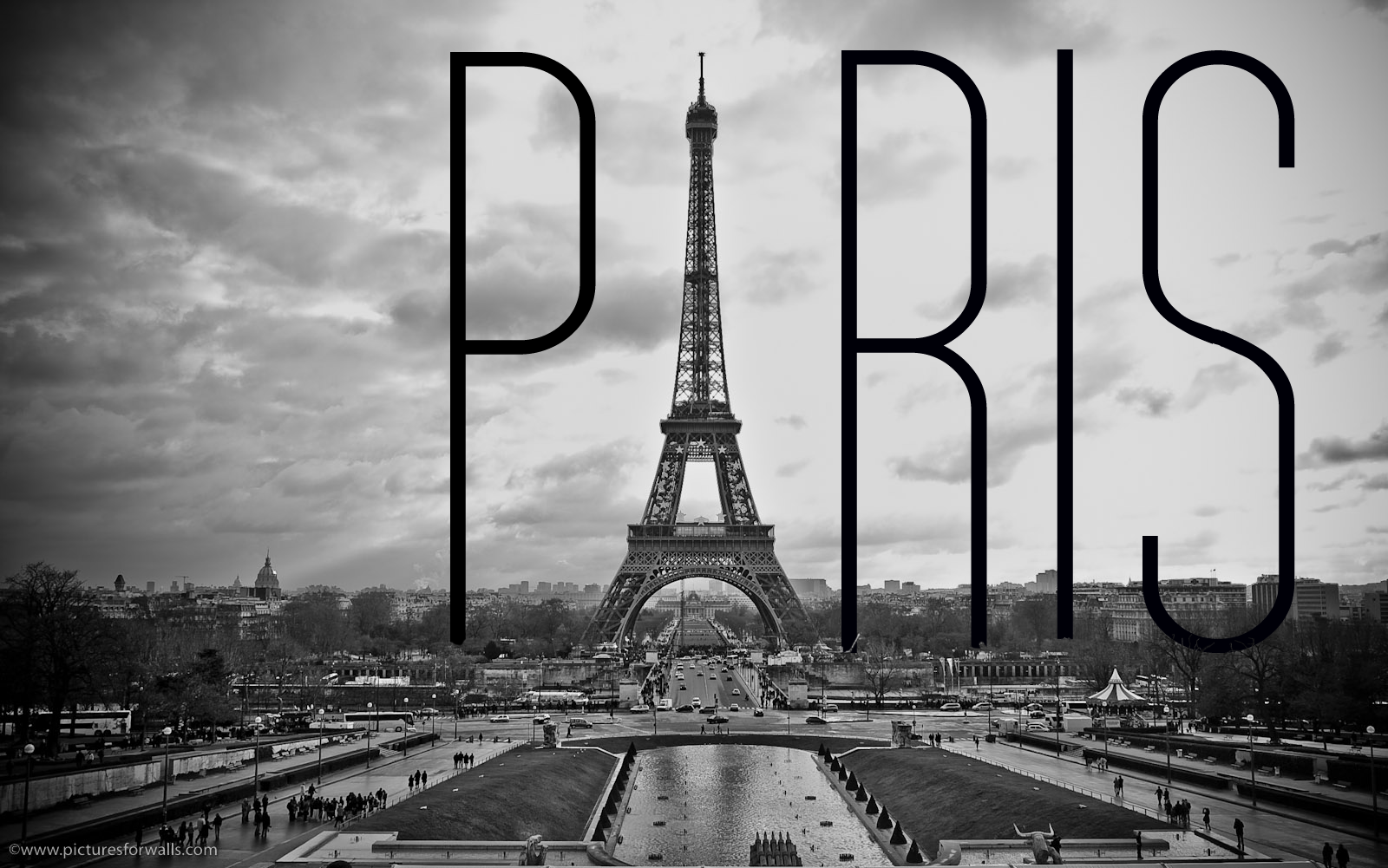 Eiffel Tower Images Black And White: Paris Black And White Wallpaper