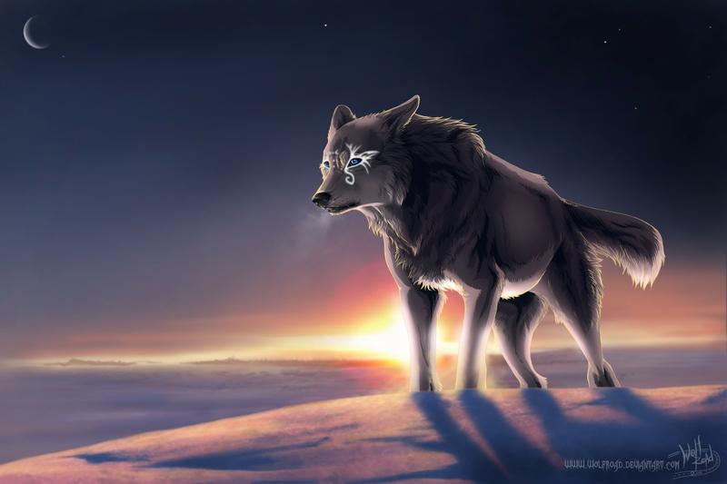 animals moon deviantart wolves 2310x1540 wallpaper Space Moons HD 800x533