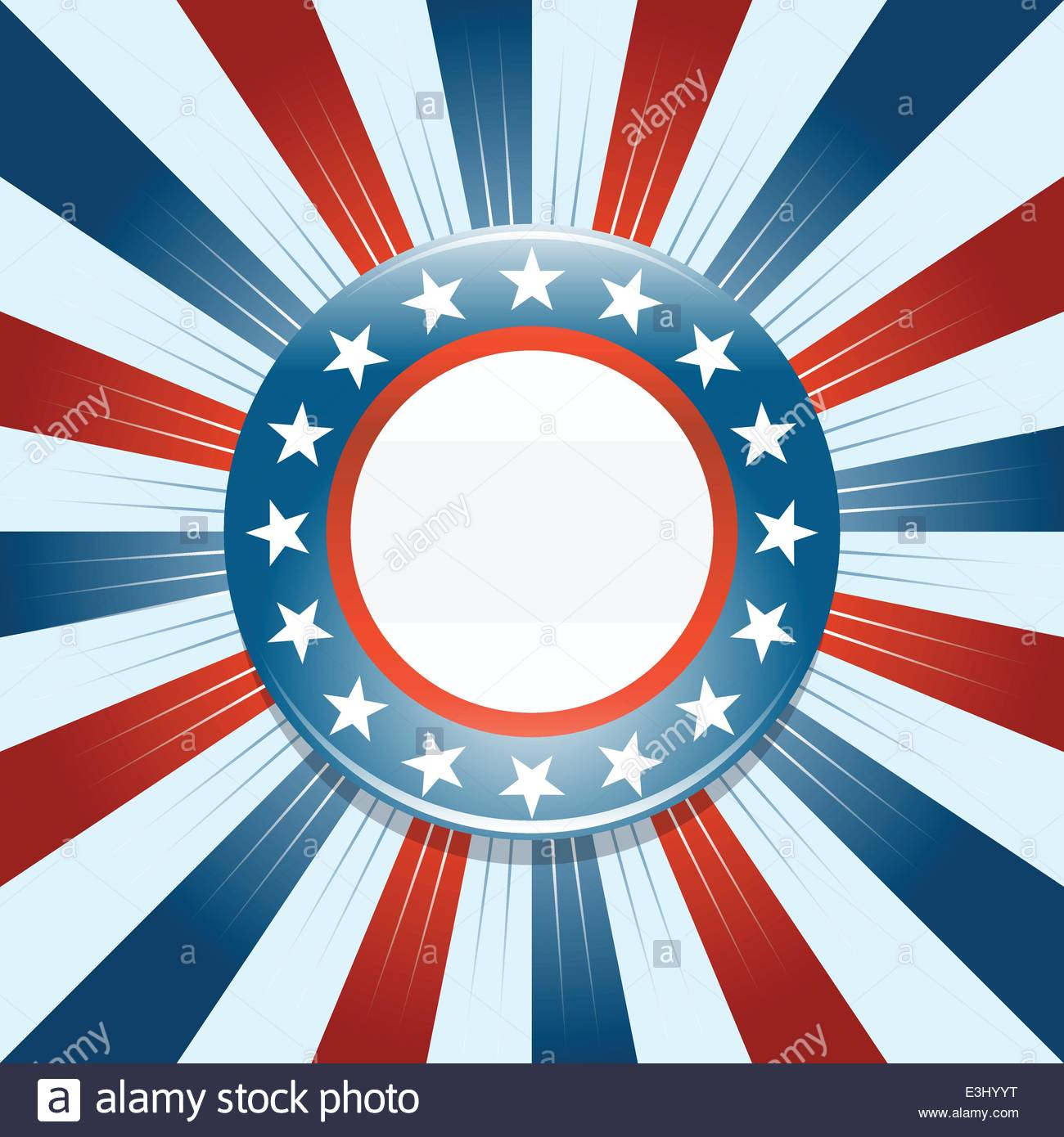 Election campaign button on red white and blue background Stock 1300x1390