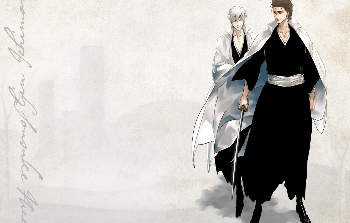 Wallpaper katana grey background Bleach Bleach Japanese 1332x850