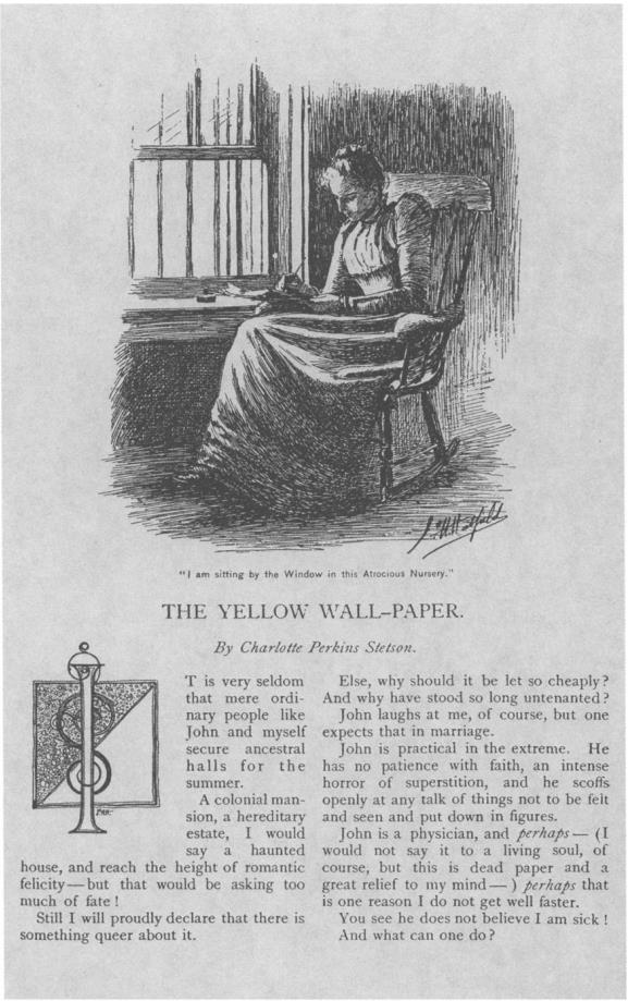 Yellow Wallpaper Feminism and Textual Studies Feminist Studies 577x919