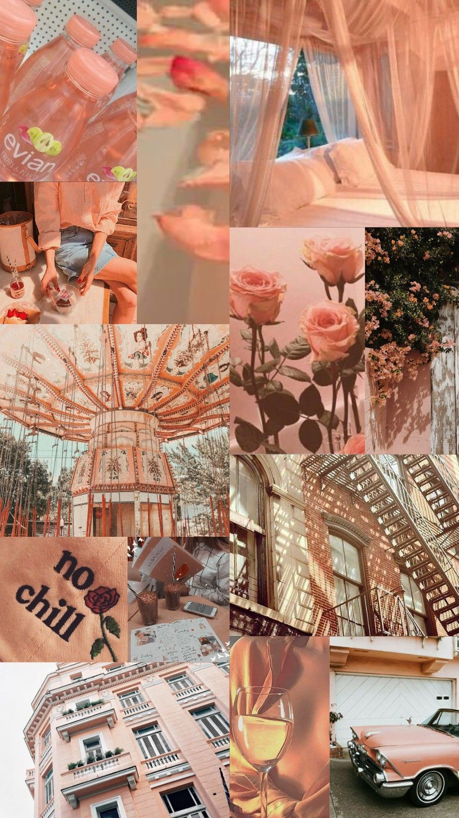 Aesthetic Collage Wallpaper Peach 2974922   HD Wallpaper 899x1600