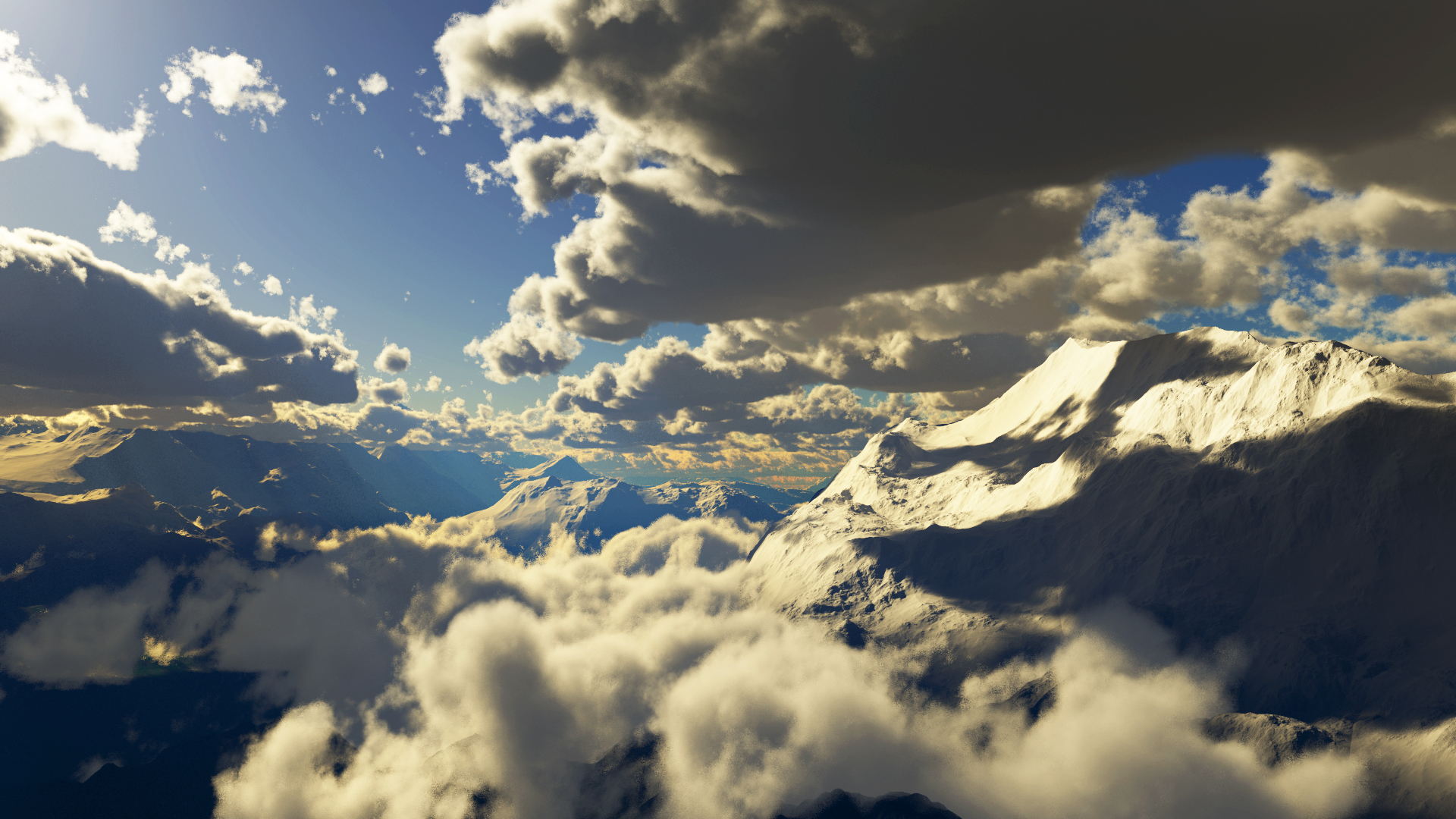 Mountains Clouds Wallpaper LOLd Wallpaper   Funny Pictures   Funny 1920x1080