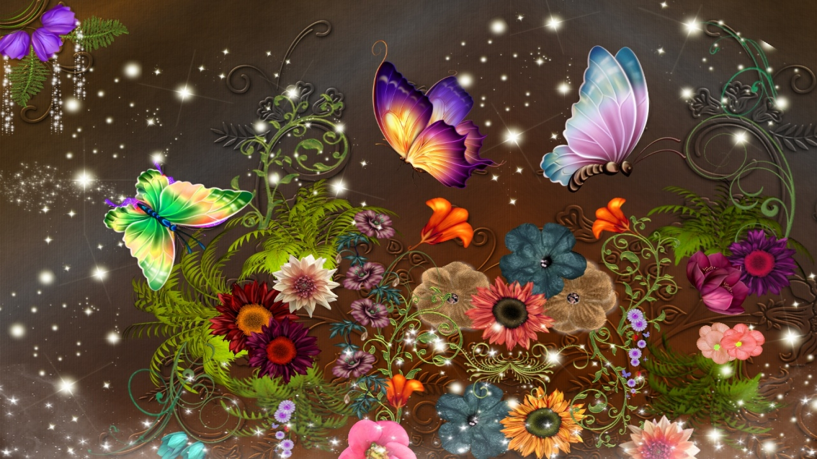 Colorful Butterfly Wallpapers 2 Widescreen Wallpaper Wallpaper 1600x900