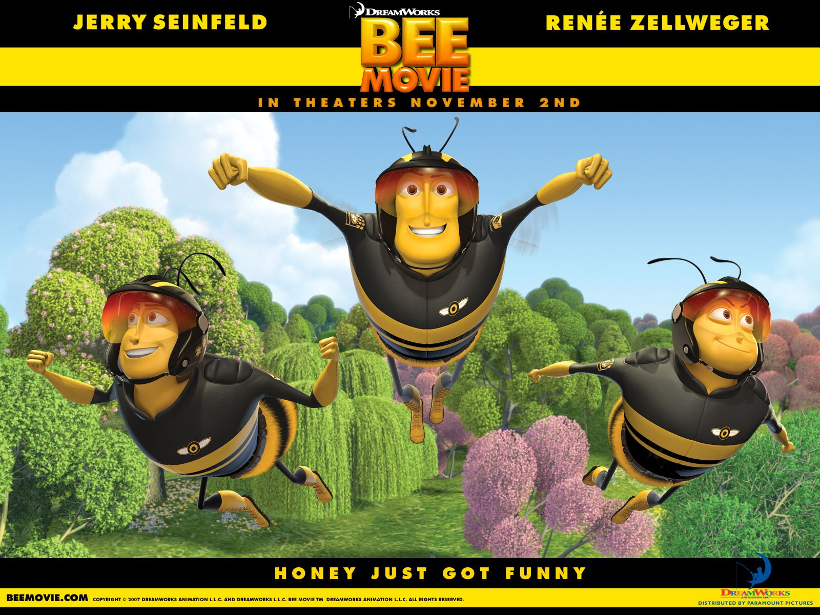Click On The Image To Download Or Enlarge Bee Movie Wallpaper