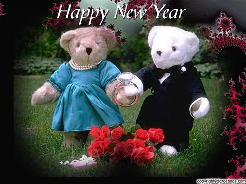 New Year Teddy Bear Wallpapers Happy New Year Teddy Wishes 500x375