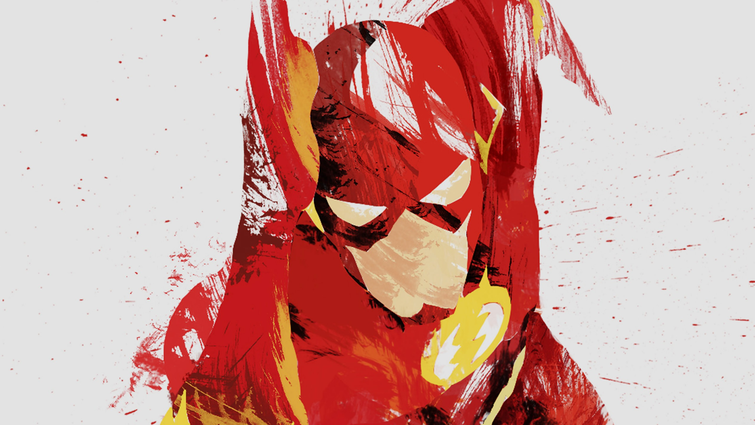 Download The Flash Illustration HD wallpaper for 2560 x 1440 2560x1440