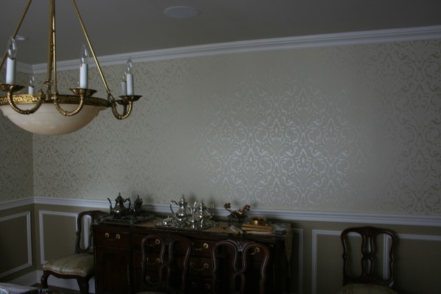 and Wainscot Chair rail and Picture Mouldings traditional dining room 640x426
