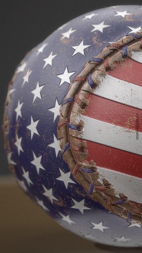 20+] American Flag Baseball Wallpapers on WallpaperSafari