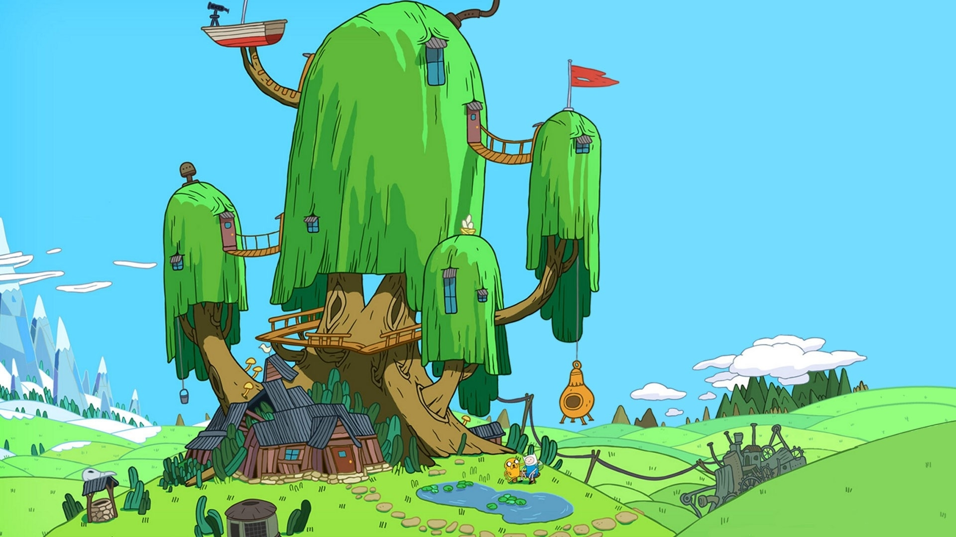 time adventure time with finn and jake tree house 1920x1080 wallpaper 1920x1080