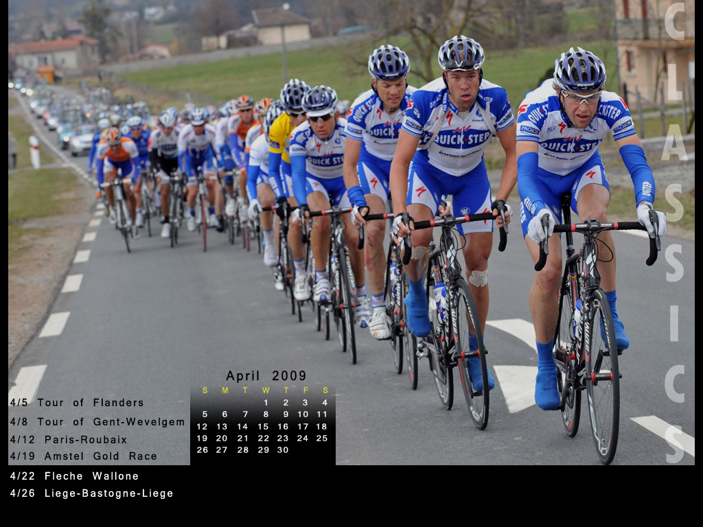 Cycling Desktop Wallpaper Calendar April 2009 Biking To Live 1024x768