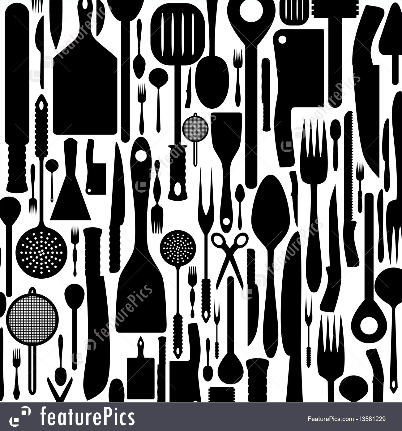 Cutlery Background 1300x1392
