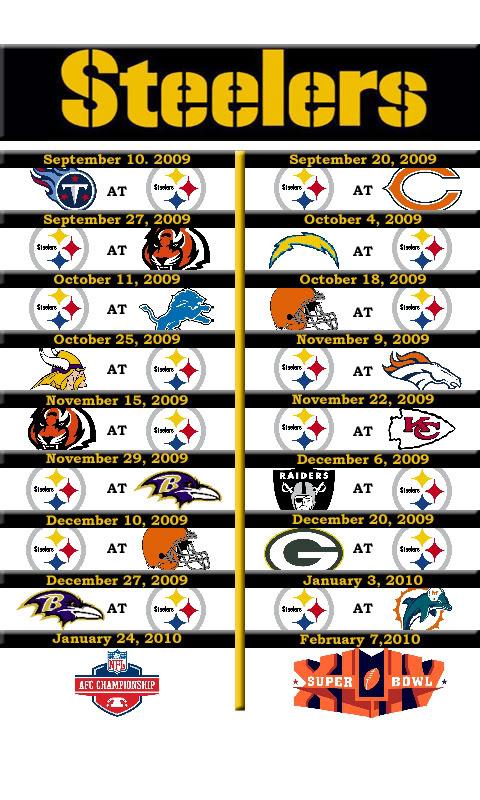 Steelers 2015 Schedule Wallpaper