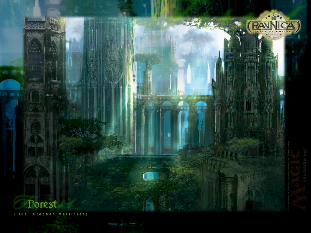Wallpaper of the Week Ravnica Forest MAGIC THE GATHERING 1024x768