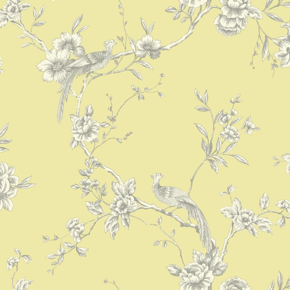 Arthouse Chinoise Yellow Wallpaper Products in 2019 Bird 1000x1000