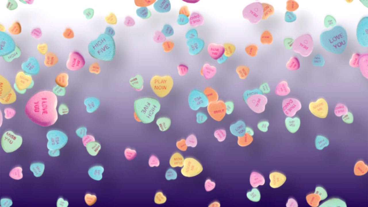 Valentines Day Background Candy Hearts   Stock Footage by 1280x720