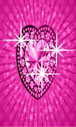 and lovely Bling Heart live wallpaper If you love the color pink 307x512