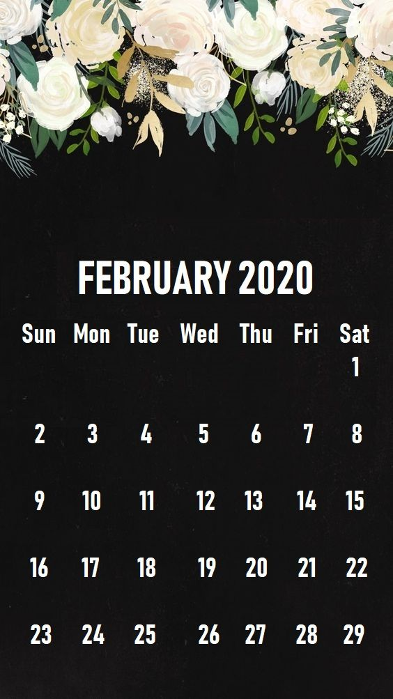 February 2020 iPhone Calendar Wallpaper in 2019 Calendar 564x1003