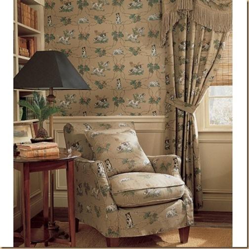 Matching wallpaper and curtains wallpapersafari for Carta parati inglese