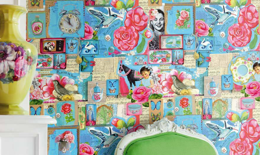 Chic Wallpaper MixnMatchPatterned Wallpaper Shabby Chic 878x524