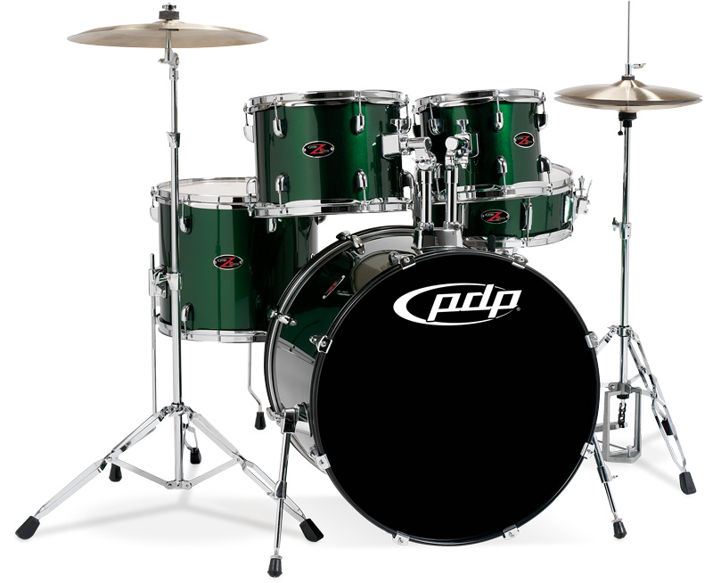 PDP Kits   Pacific Drums and Percussion Z5 Series   Emerald Wrap with 800x654
