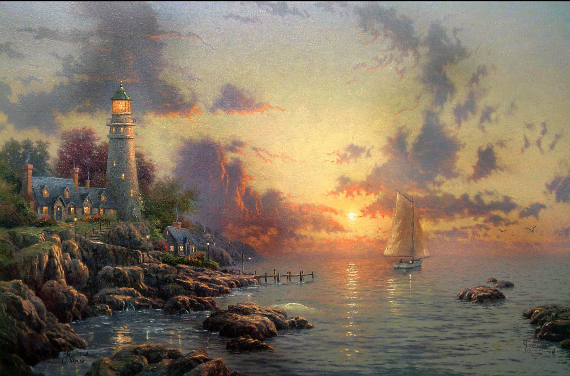 Thomas Kinkade Sea Of Tranquility Wallpaper ForWallpapercom 1944x1284