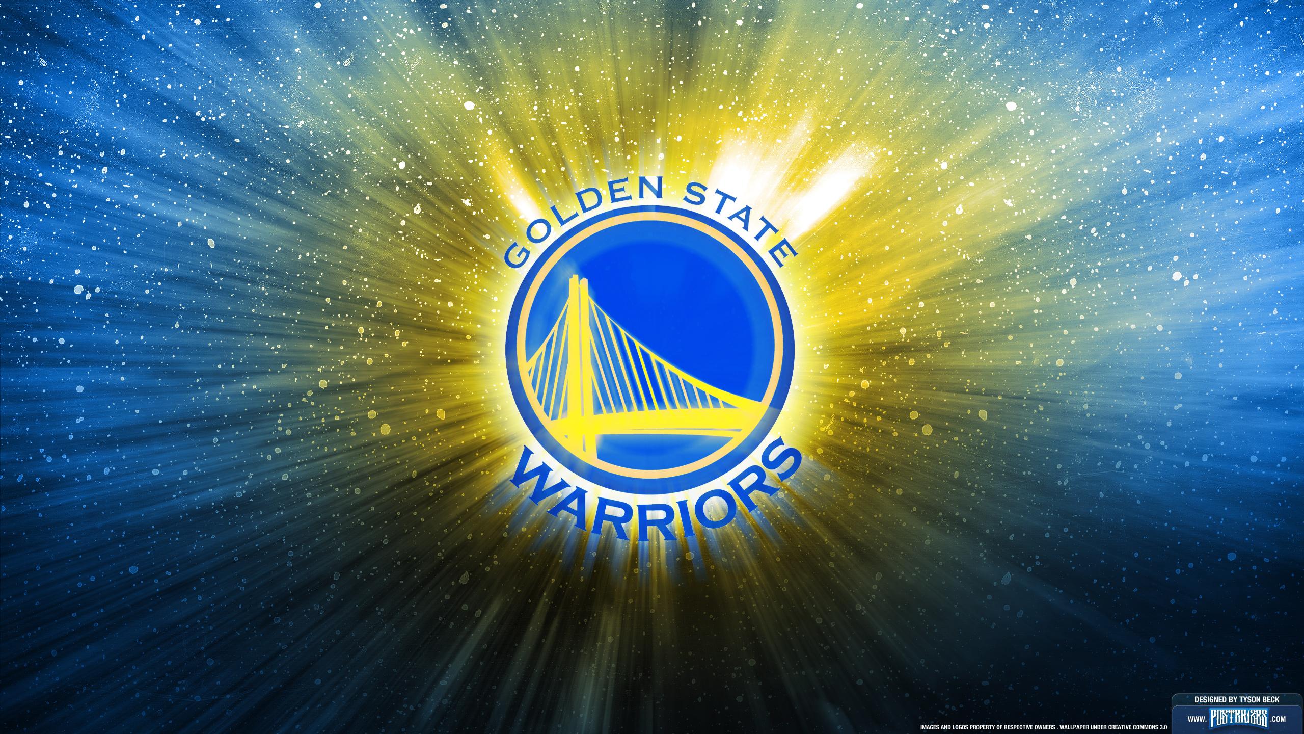Golden State Warriors Logo Wallpaper 2560x1440